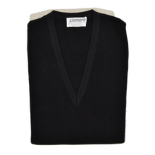 Load image into Gallery viewer, Zimmerli of Switzerland V-Neck Sweater Vest XL - Black