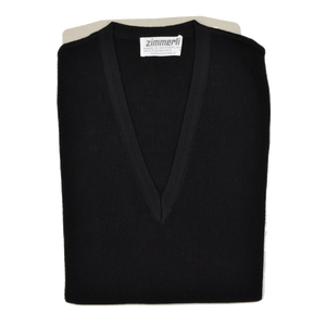 Zimmerli of Switzerland V-Neck Sweater Vest XL - Black