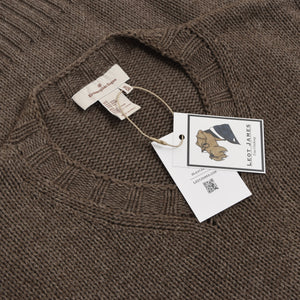Ermenegildo Zegna Loose Knit Wool/Cotton Sweater Size M/50 - Cappuccino Brown