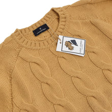Load image into Gallery viewer, Ermenegildo Zegna Thick Cableknit Wool Sweater Size L - Mustard