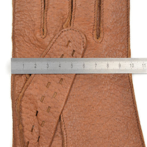 Unlined Peccary Driving Gloves Size 8 - Tan