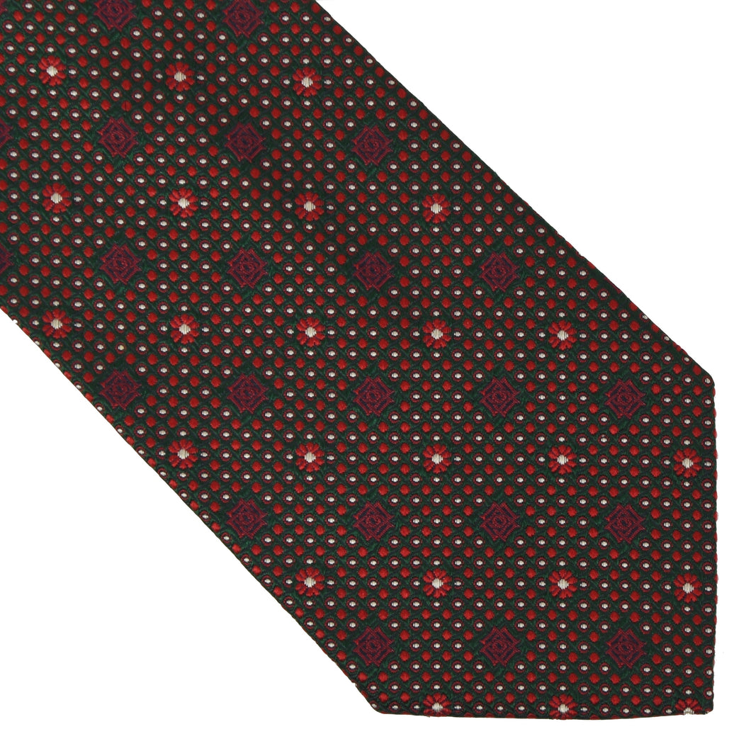 DAKS London Silk Tie - Green & Red