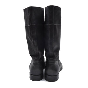Miu Miu Vachetta Leather Boots Size 6-61/2 - Black