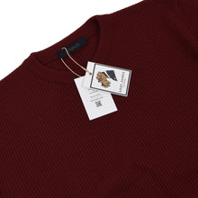 Load image into Gallery viewer, Ermenegildo Zegna Sport Thick Wool Sweater Size L - Burgundy