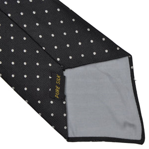 E. Braun & Co. Wien Silk Tie - Black Pindot