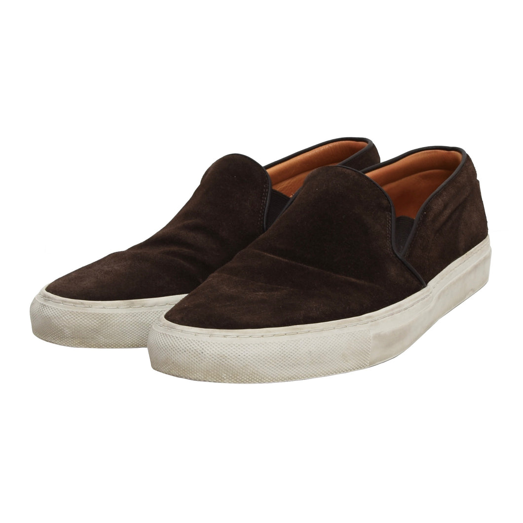 Ludwig Reiter Suede Slip On Shoes Size 43 - Chocolate Brown