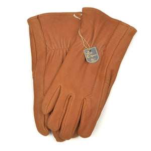 Lined Chamois/Goat Leather Gloves Size 8 - Whiskey
