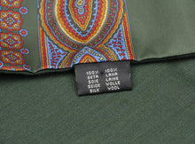 Load image into Gallery viewer, Doubled-Sided Silk/Wool Dress Scarf - Green