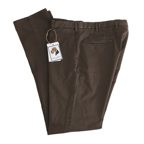 LBM 1911 Tailored Cotton Pants Size 54 - Brown