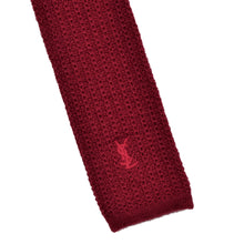 Load image into Gallery viewer, YSL Knit Wool & Alapaca Tie - Red