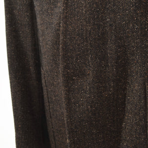 Burberry London Wool/Silk Donegal Tweed Jacket Size 50 - Brown