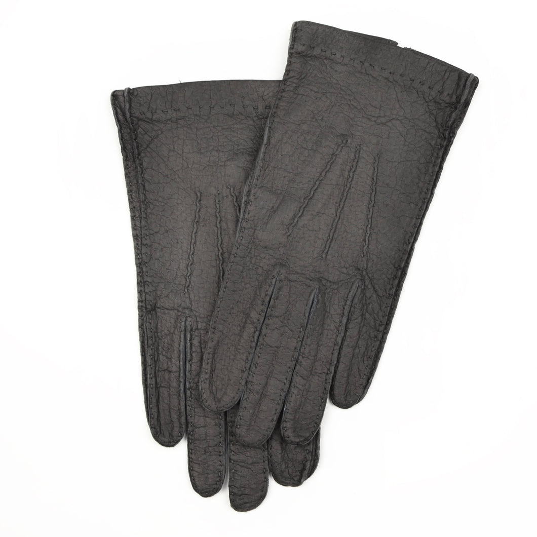 Unlined Peccary Gloves Size 8 3/4 - Grey