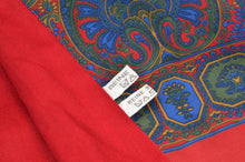 Load image into Gallery viewer, Doubled-Sided Silk/Wool Paisley Dress Scarf - Red