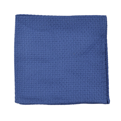 Harvey & Hudson Grenadine Silk Pocket Square - Blue