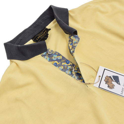 Leonard Paris Polo Shirt Size L - Yellow