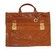 Load image into Gallery viewer, Rafarino Leather Briefcase - Cognac Tan