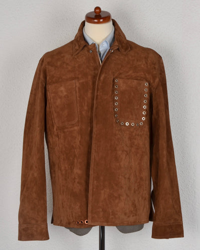 Acne Studios Amor Suede Jacket Size 52 - Brown