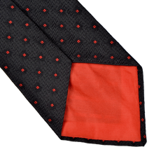 Load image into Gallery viewer, E. Braun & Co. Wien Silk Tie - Black & Red