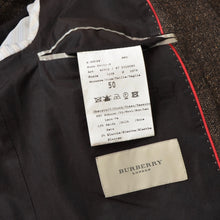 Load image into Gallery viewer, Burberry London Wool/Silk Donegal Tweed Jacket Size 50 - Brown
