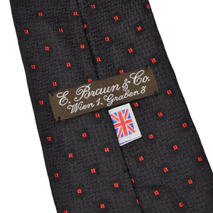 E. Braun & Co. Wien Silk Tie - Black & Red