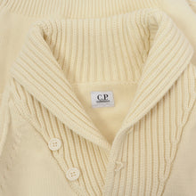 Load image into Gallery viewer, C.P. Company Shawl Collared Pullover Size 46 - Cream