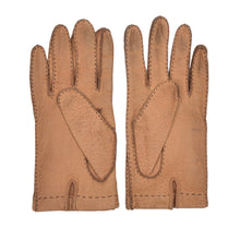 Load image into Gallery viewer, Unlined Peccary Gloves Size 8 - Tan