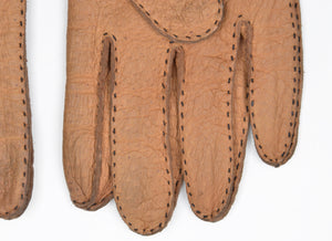 Unlined Peccary Gloves Size 8 - Tan