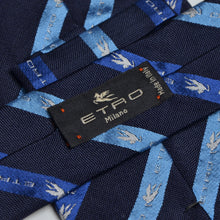 Load image into Gallery viewer, Etro Milano Logo Striped Tie - Navy