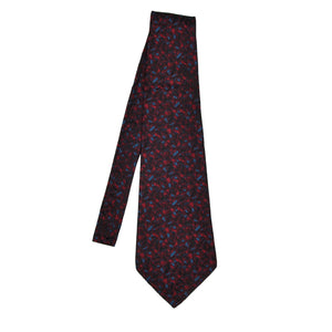 Knize Wien Unlined Silk Tie - Black, Red & Blue