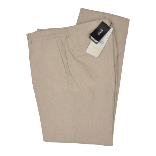 Hugo Boss 100% Linen Pants Size 102 - Sand