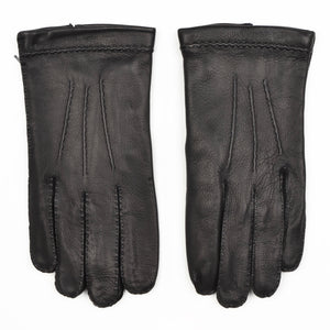 Lined Deerskin Gloves Size 9 1/2 - Black