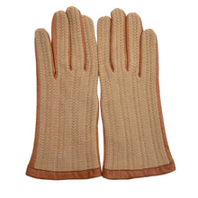 Load image into Gallery viewer, Leather & Knit Driving Gloves - Size 8.5