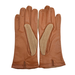 Leather & Knit Driving Gloves - Size 8.5