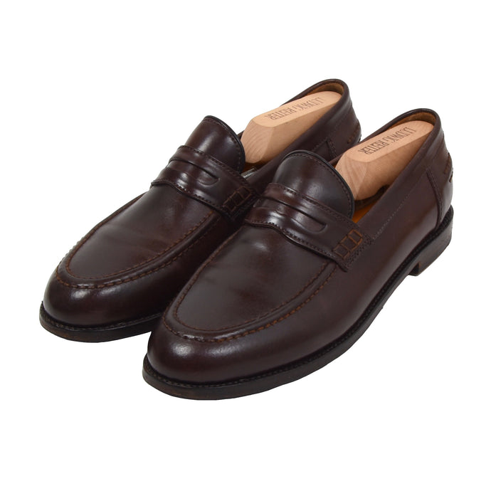 Ludwig Reiter Shell Cordovan College Loafer Shoes Size 11.5 - Brown