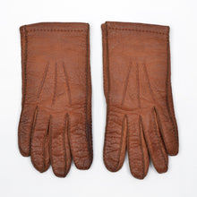 Load image into Gallery viewer, Lined Peccary Gloves  - Rust Brown