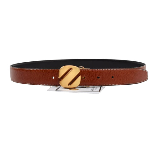 Ermenegildo Zegna Reversible Belt - Rust Brown/Black