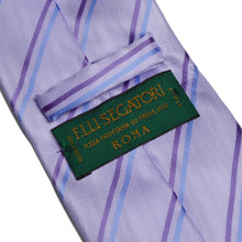 Load image into Gallery viewer, Elli Segatori Silk Striped Tie - Lavender