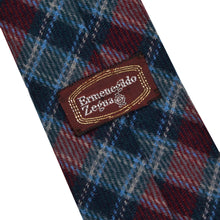 Load image into Gallery viewer, Ermenegildo Zegna Skinny Wool Tie - Plaid