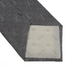 Load image into Gallery viewer, Fendi Roma FF Pattern Tie - Grey/Black