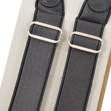 Load image into Gallery viewer, 2 Pairs of Vintage Domino Braces/Suspenders Size 110 - Champagne/Dark Grey