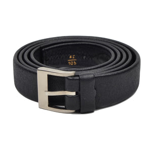 L'Aiglon Vachette Leather Belt Size 42/105 - Black