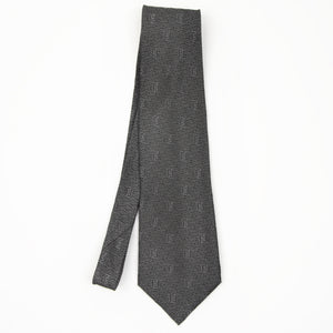 Fendi Roma FF Pattern Tie - Grey/Black
