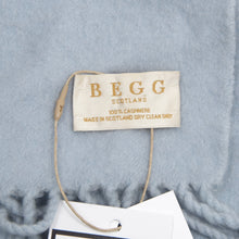 Load image into Gallery viewer, Begg Scotland 100% Cashmere Scarf - Light Blue