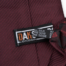 Load image into Gallery viewer, DAKS London Silk Tie - Burgundy