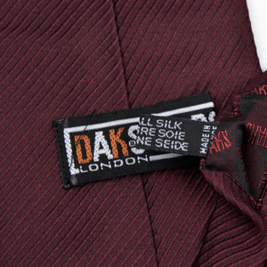 DAKS London Silk Tie - Burgundy