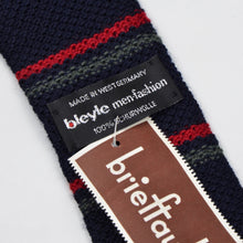 Load image into Gallery viewer, Bleyle Knit Wool Tie - Navy Stripe
