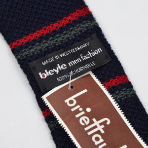 Bleyle Knit Wool Tie - Navy Stripe