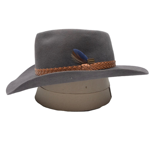 Akubra Snowy River Hat Size 59 - Grey