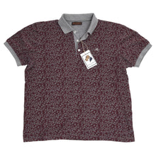 Load image into Gallery viewer, Etro Milano Palm Tree Polo Shirt Slim Size XL - Burgundy