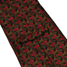 Load image into Gallery viewer, Knize Wien Unlined Silk Tie - Red & Green